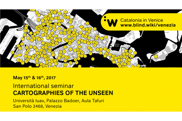 "Seminari internacional amb el títol de ""Cartographies of the Unseen""."